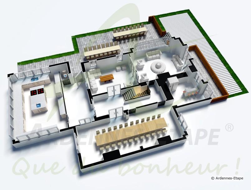 Villa de luxe avec piscine et espace wellness pour 26 pers for Maison moderne de luxe plan