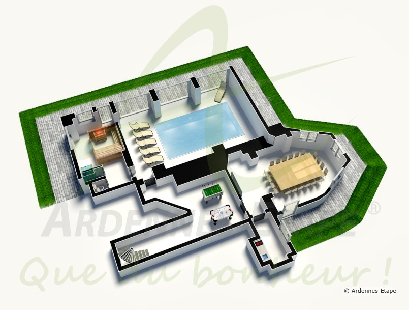 Maison Moderne De Luxe Plan 3d