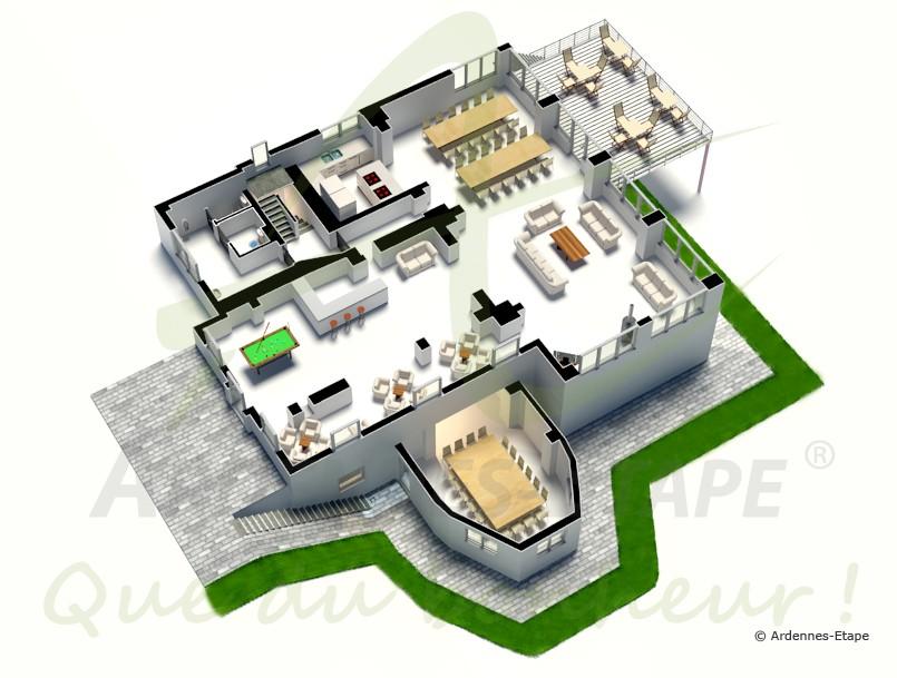 Villa de luxe stoumont pour 24 personnes en ardenne for Maison moderne de luxe avec piscine