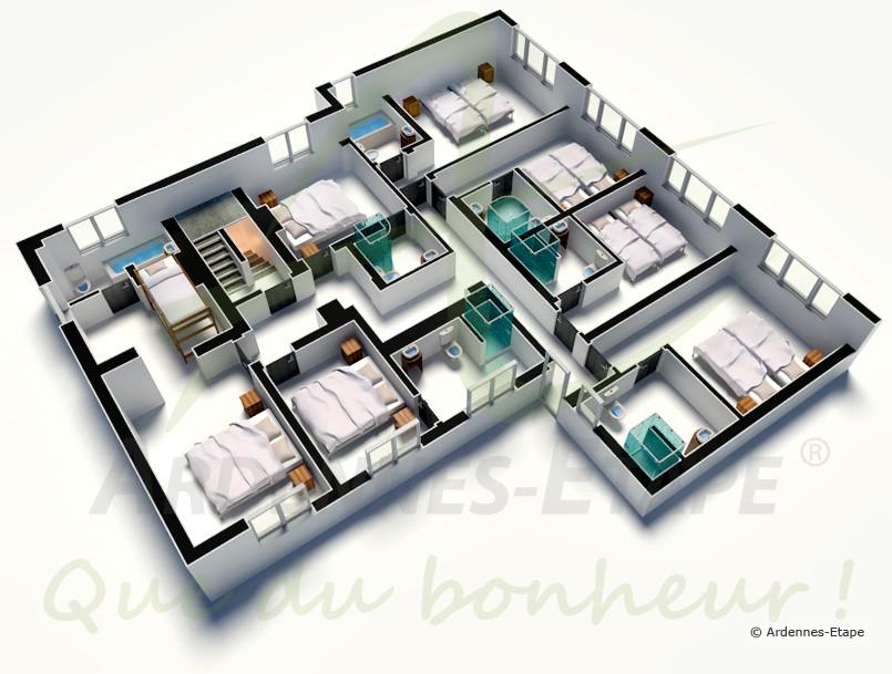 Villa de luxe stoumont pour 24 personnes en ardenne for Maison de luxe plan