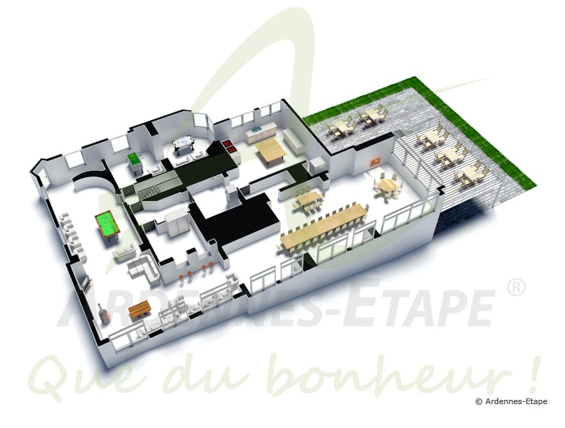 Luxury villa with pool and wellness for 30 pers to rent for Simulation plan de maison