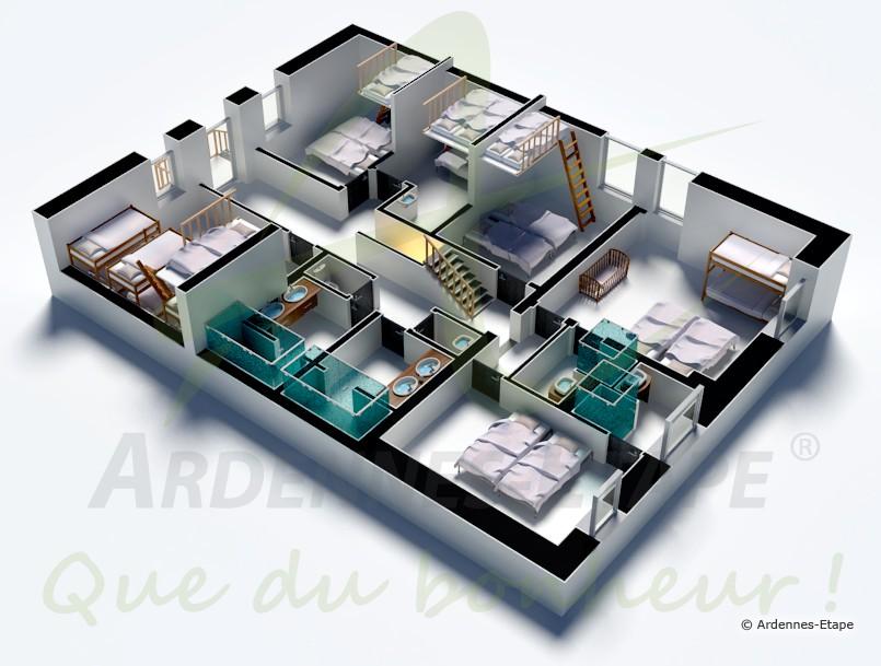 ferienhaus robertville 34 pers ardennen wellness. Black Bedroom Furniture Sets. Home Design Ideas