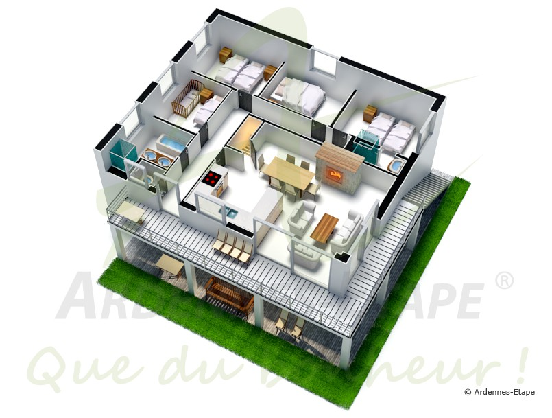 weitl ufiges chalet in herrlicher umgebung f r 7 personen in malmedy. Black Bedroom Furniture Sets. Home Design Ideas