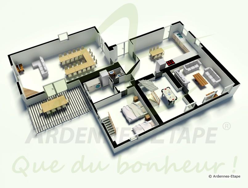 awesome maison moderne de luxe plan contemporary design. Black Bedroom Furniture Sets. Home Design Ideas