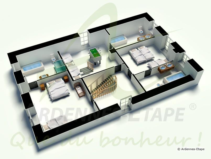 confortable villa de vacances avec sauna pour 13 personnes. Black Bedroom Furniture Sets. Home Design Ideas