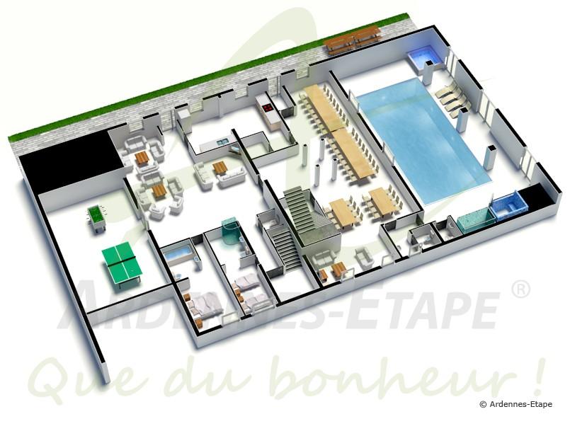 Pbm vriendelijke luxevilla met zwembad voor 48 personen in rochefort for Plan de maison de luxe avec piscine