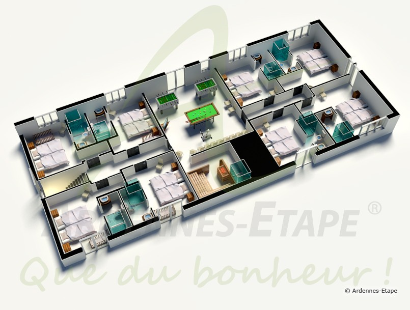 Maison Moderne D  Chambres