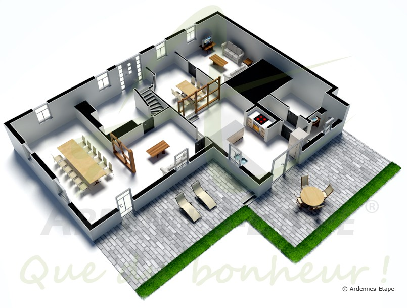 ferien im malmedy in komfortablem ferienhaus f r 10 personen. Black Bedroom Furniture Sets. Home Design Ideas