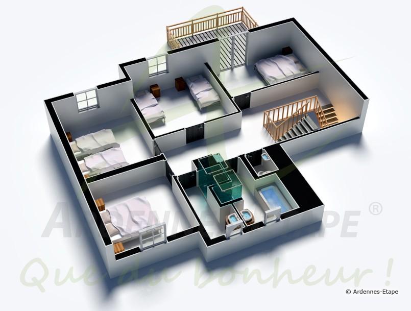 Wc Dans Salle De Bain Interdit : Maison de vacances Bertrix Ardenne – 9 pers. – 105257-02