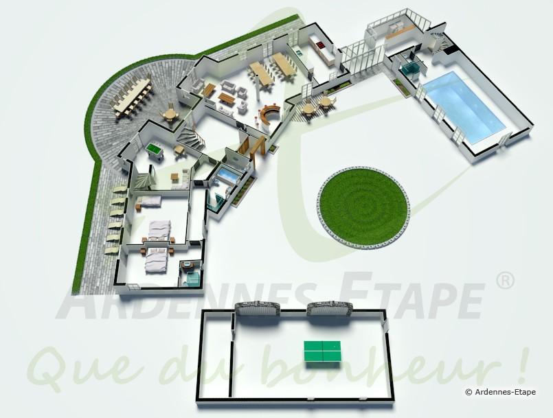 Villa de luxe pour 16 personnes avec piscine et wellness louer aubel for Plan de maison de luxe avec piscine