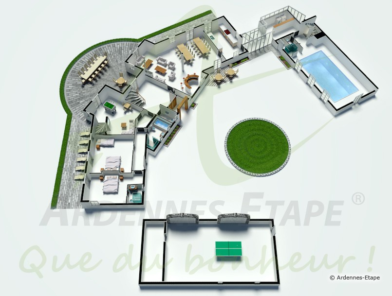 Luxusvilla für 16 Personen mit Schwimmbad und Wellness in Aubel