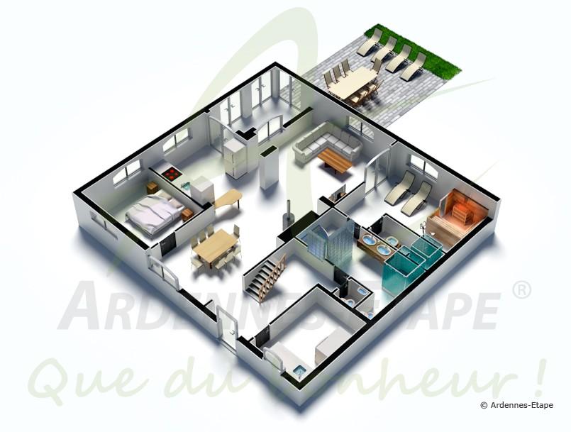 Maison de vacances banneux pour 8 personnes for Simulation plan maison