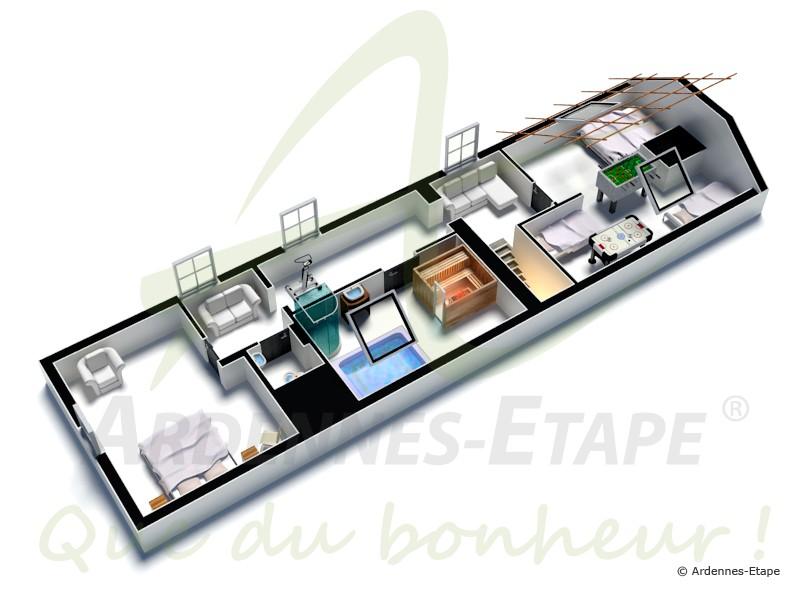 ferienhaus f r hohe anspr che mit wellnesseinrichtung in thuin. Black Bedroom Furniture Sets. Home Design Ideas