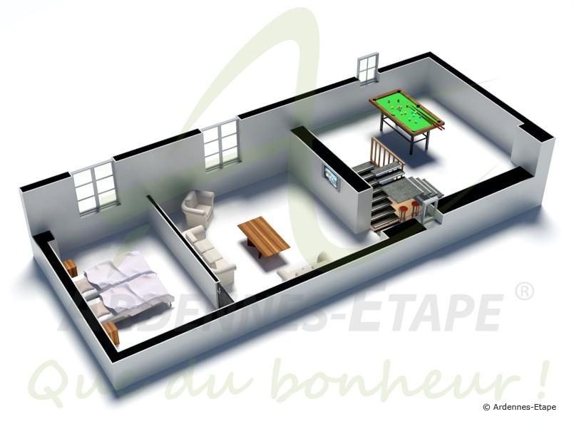 4 sterne ferienhaus im schloss mit schwimmbad in ohey. Black Bedroom Furniture Sets. Home Design Ideas