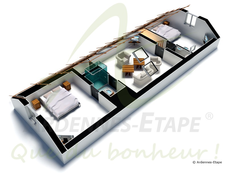 luxusvilla f r 14 personen mit garten swimmingpool und wellness in spa. Black Bedroom Furniture Sets. Home Design Ideas