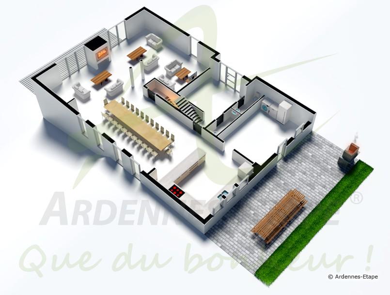 luxusvilla mit schwimmbad in ruhiger lage f r 22 personen in stavelot. Black Bedroom Furniture Sets. Home Design Ideas