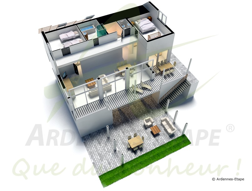 ferienhaus f r gehobene anspr che mit wellness f r 8 personen in malmedy. Black Bedroom Furniture Sets. Home Design Ideas