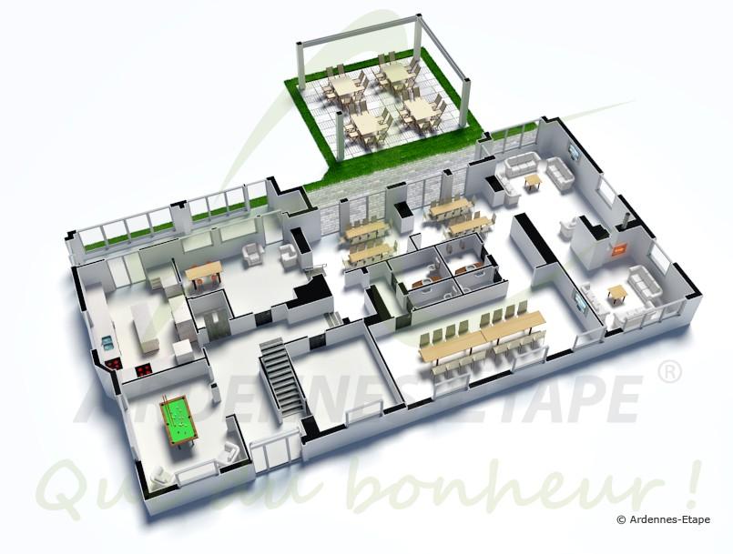 barrierefreie luxusvilla mit wellness f r 40 personen in robertville. Black Bedroom Furniture Sets. Home Design Ideas