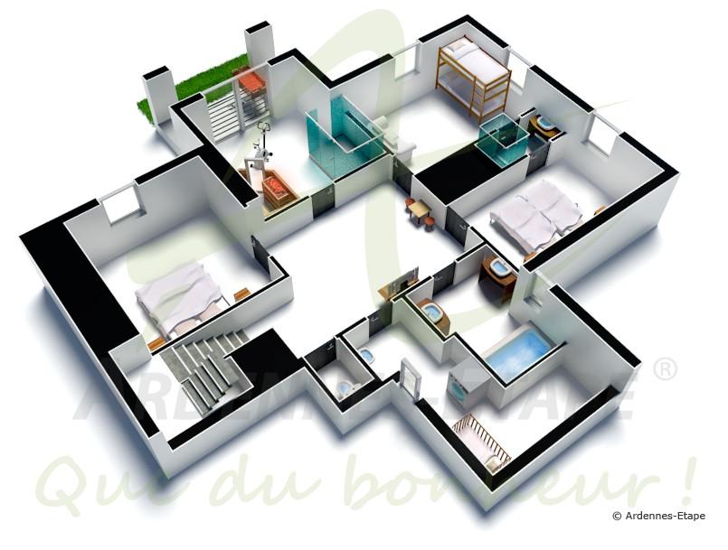 Stunning Plan De Maison De Luxe Etage Gallery - Amazing House Design