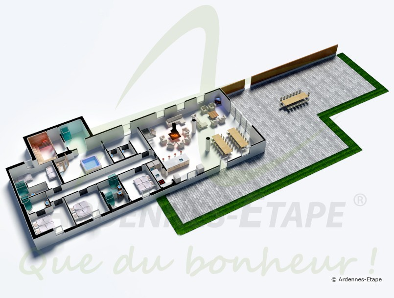 luxusvilla mit wellness f r 30 personen in b llingen hunde erlaubt. Black Bedroom Furniture Sets. Home Design Ideas