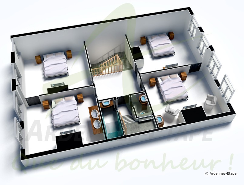villa de luxe 14 personnes au coeur de stavelot en province de li ge. Black Bedroom Furniture Sets. Home Design Ideas