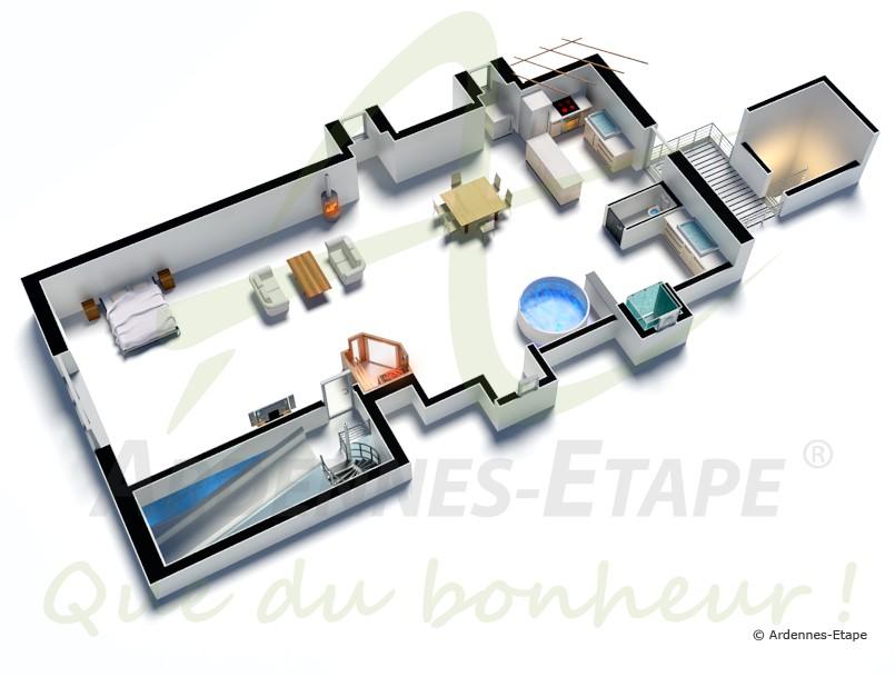 Dimension Jacuzzi Salle De Bain : Villa de luxe avec piscine et wellness pour 2 personnes à louer à …
