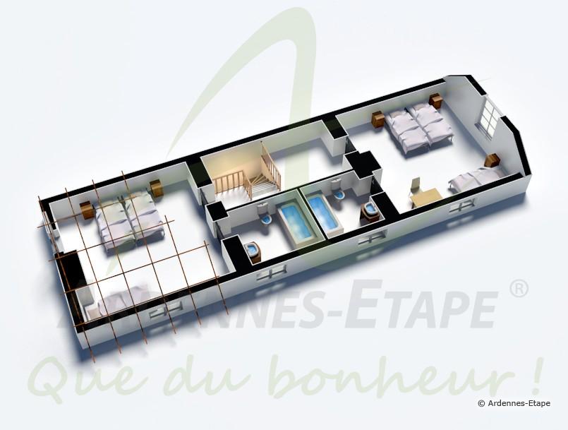 stilvolles ferienhaus mit swimmingpool f r 14 personen in dinant. Black Bedroom Furniture Sets. Home Design Ideas