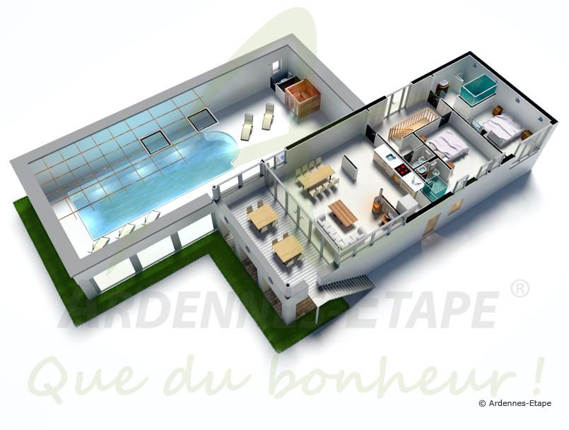 Emejing plan de maison de luxe avec piscine contemporary - Plan de maison luxueuse ...