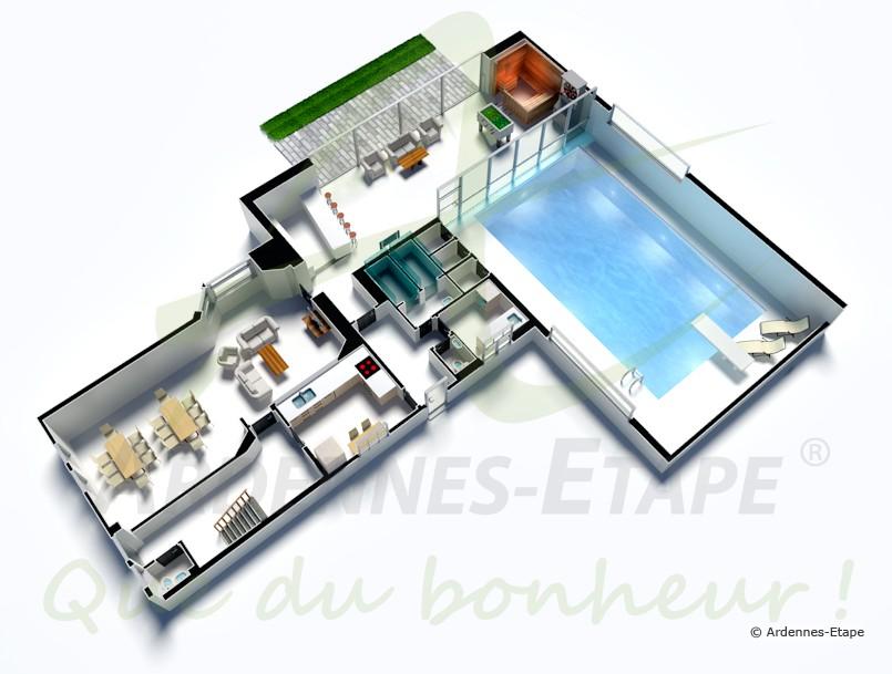 Emejing plan de maison de luxe avec piscine contemporary for Piscine de luxe