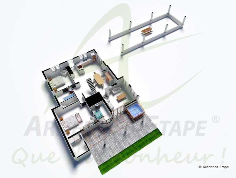 ferienhaus im stil der ardennen f r ferien der luxusklasse in durbuy. Black Bedroom Furniture Sets. Home Design Ideas
