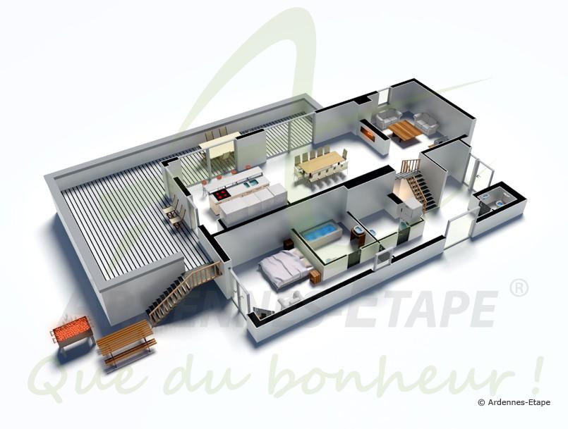 ferienvilla f r 8 personen mit allem luxus in malmedy. Black Bedroom Furniture Sets. Home Design Ideas