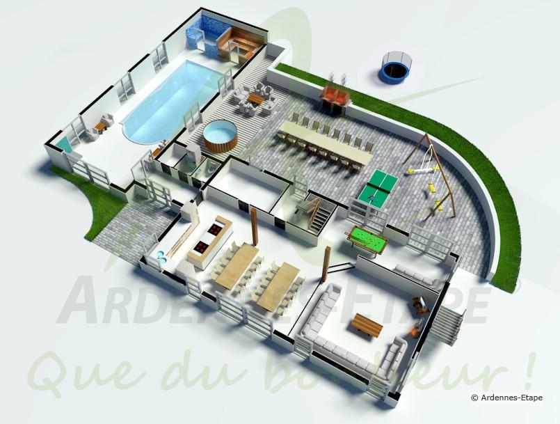 Plan Villa De Luxe  Tireuse & Congélateur ApparelVilla de luxe 5