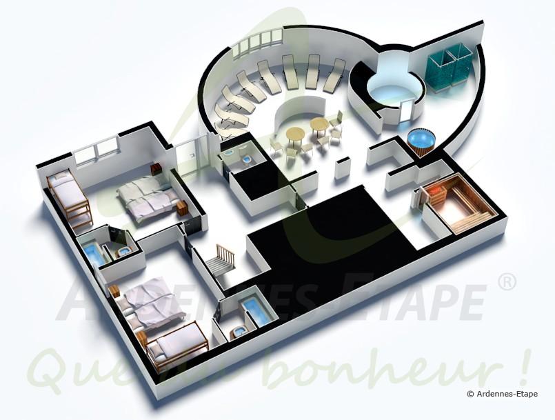 Stunning maison de luxe moderne plan pictures design for Plan de maison en u