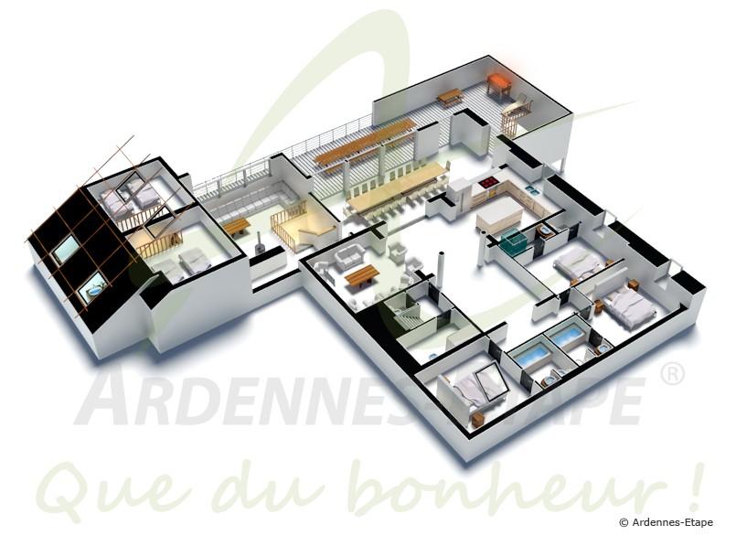 La Villa De Luxe Moderne Se Devoile : Luxueuse villa marchoise pour personnes en province de luxembourg