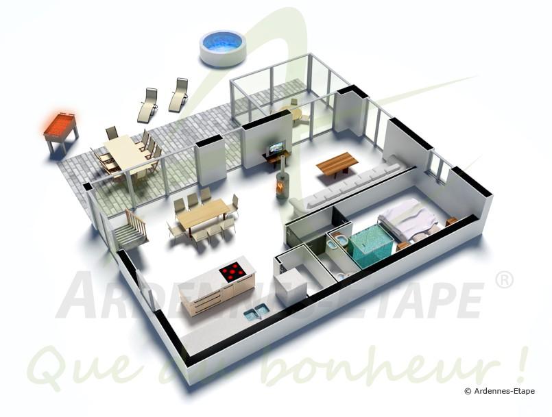 ferienhaus der luxusklasse f r 8 personen in durbuy. Black Bedroom Furniture Sets. Home Design Ideas